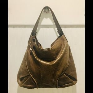 FRACESCO BIASIA Distressed Brown ITALIAN HOBO BAG